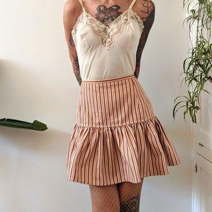 Dresses & Skirts - Vintage handmade brown striped skirt